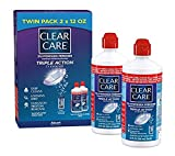 Clear Care Cleaning & Disinfecting Solution with Lens Case, Twin Pack, 12-Ounces Each (Limited Edition)