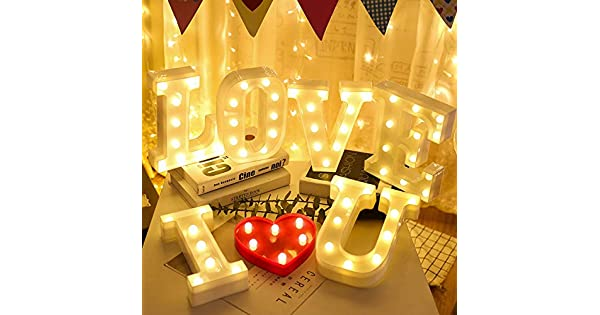 Amazon.com: Letras LED del alfabeto DIY 26 Letra Inglés LED ...