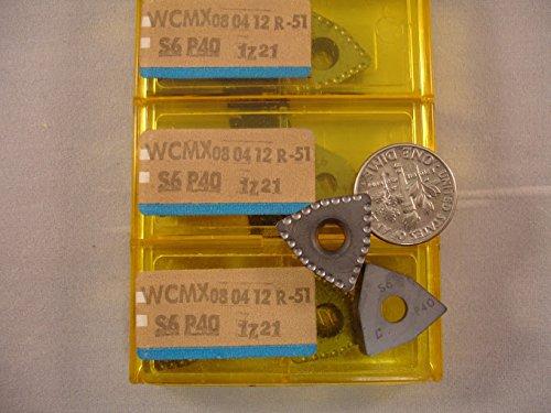 (Sandvik - Wcmx 080412 R 51 S6 Sandvik Carbide Inserts (10Pcs))