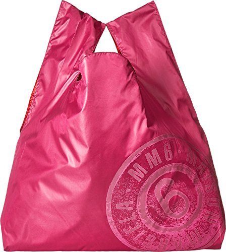 MM6 Maison Margiela Women's Nylon Logo Shopper Pink/Red One - Margiela Maison Red