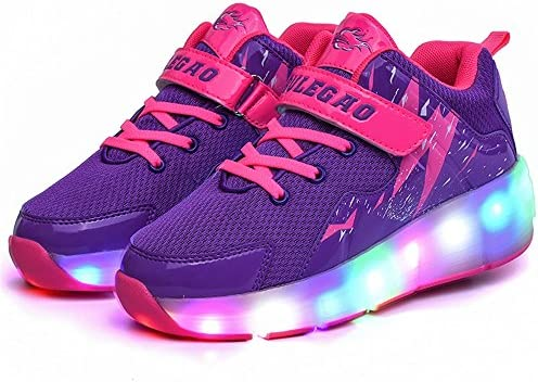 pit4tk Kids Sneakers LED Shoes with Lights Casual Walking Wheels Children Girls Boys Comfortable Shoes