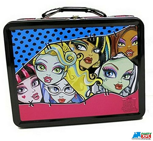 1 X Faces of Monster High Embossed Metal Lunch Box/ (Monster High All Movies)