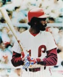 Garry Maddox Philadelphia Phillies Autographed 8x10 Photo -At Bat- - 100% Authentic Autograph - Genuine MLB Signature - Perfect Sports Gift