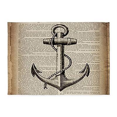 CafePress - Nautical Vintage Anchor - Decorative Area Rug, 5'x7' Throw Rug