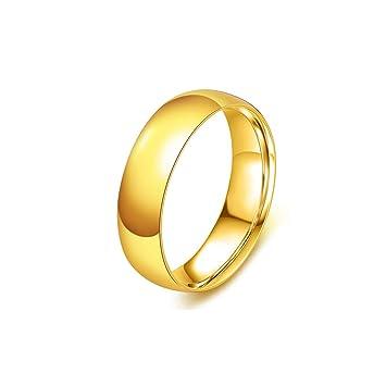 Wortek Ring Goldfarbener Ring Rostfreier Edelstahl Amazon De