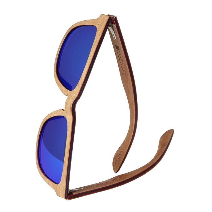 97d0172586 WOLA estilo cuadradas gafas de sol en madera AERO mujer y hombre madera,  sunglasses UV400 - polarisado arce: Amazon.es: Ropa y accesorios