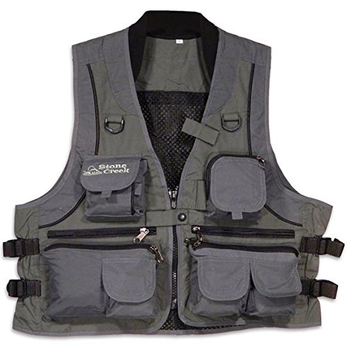 Creek Stone (STONE CREEK Fishing Vest, XL, GREY/SAGE)