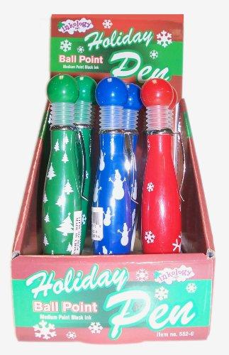 12 x Inkology Holiday Torpedo Novelty Ball Point Pens