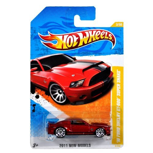 Hot Wheels 2011 New Models 2010 Ford Shelby Mustang GT500 GT-500 Supersnake Super Snake Red