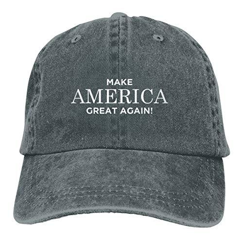 (Splash Brothers Customized Unisex Make America Great Again Vintage Jeans Adjustable Baseball Cap Cotton Denim Dad Hat (Deep Heather, One Size))