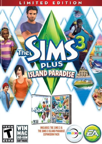 The Sims 3 Plus Island Paradise (Limited Edition) - PC/Mac (Sims 3 University Code)