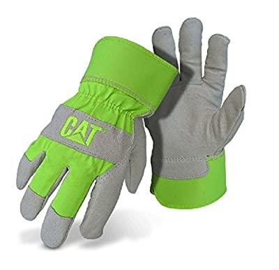 CAT CAT013103L Grain pigskin leather palm, index finger and finger tips Glove, Large