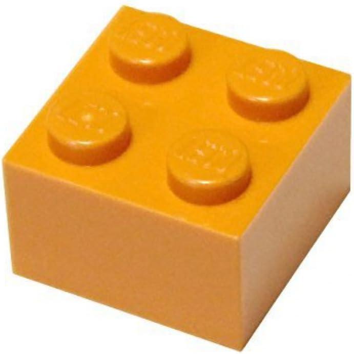 LEGO Parts and Pieces: 2x2 Orange (Bright Orange) Brick x100