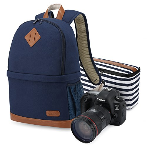Kattee Women's Canvas SLR DSLR Camera Backpack 14