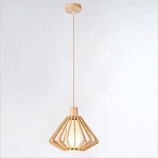 Araña japonesa, pantalla de lámpara de artesanía moderna de madera ...