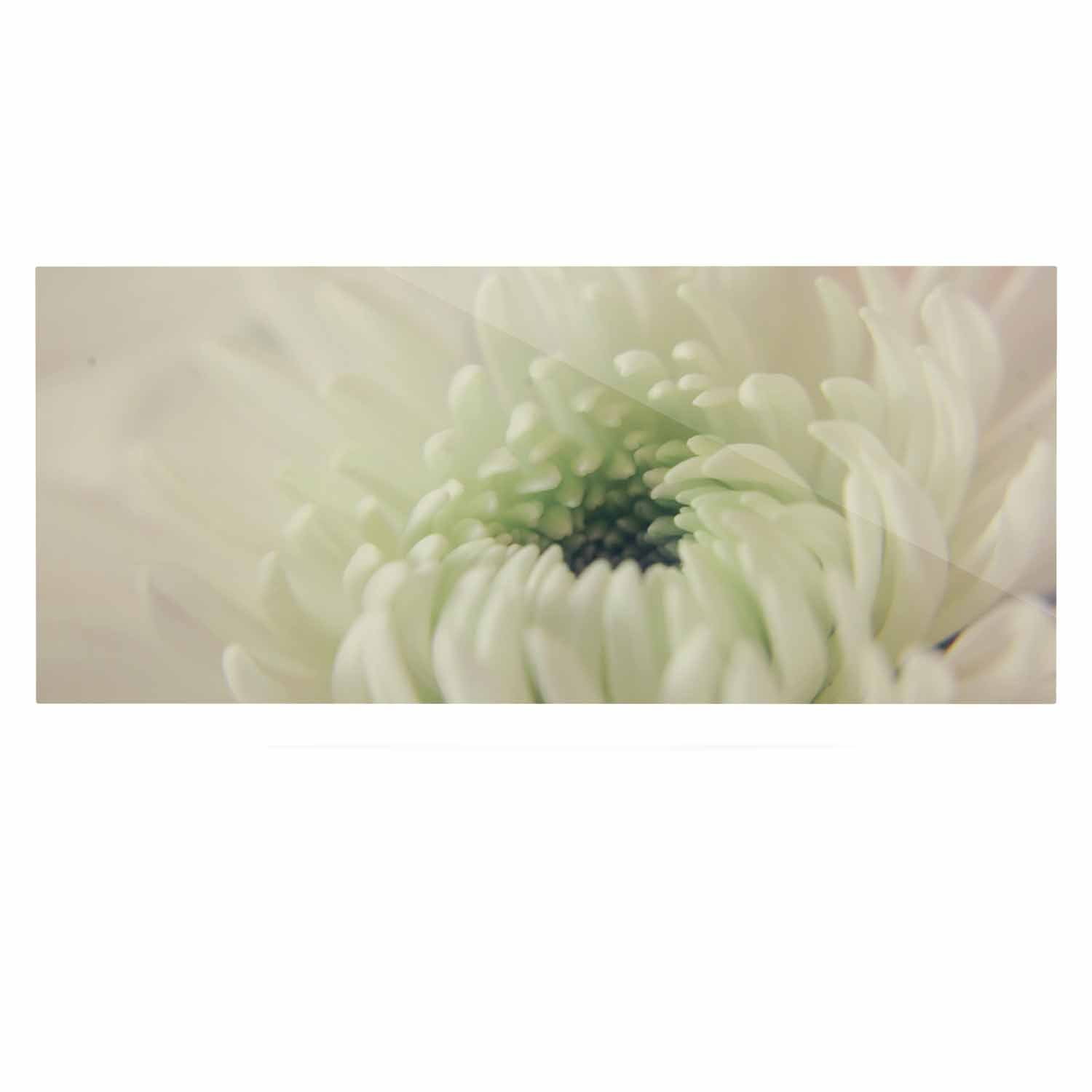 24 x 36 Kess InHouse Angie Turner Pure Petals White Floral Luxe Rectangle Panel