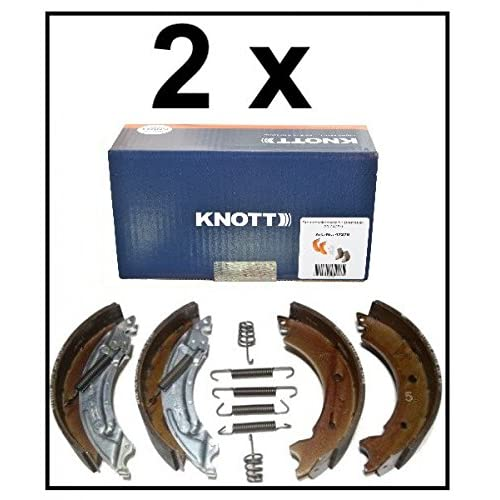 47276 Lot de 2 mâchoires de frein Knott 20-2425/1 200 x 50 Pour 2 essieux