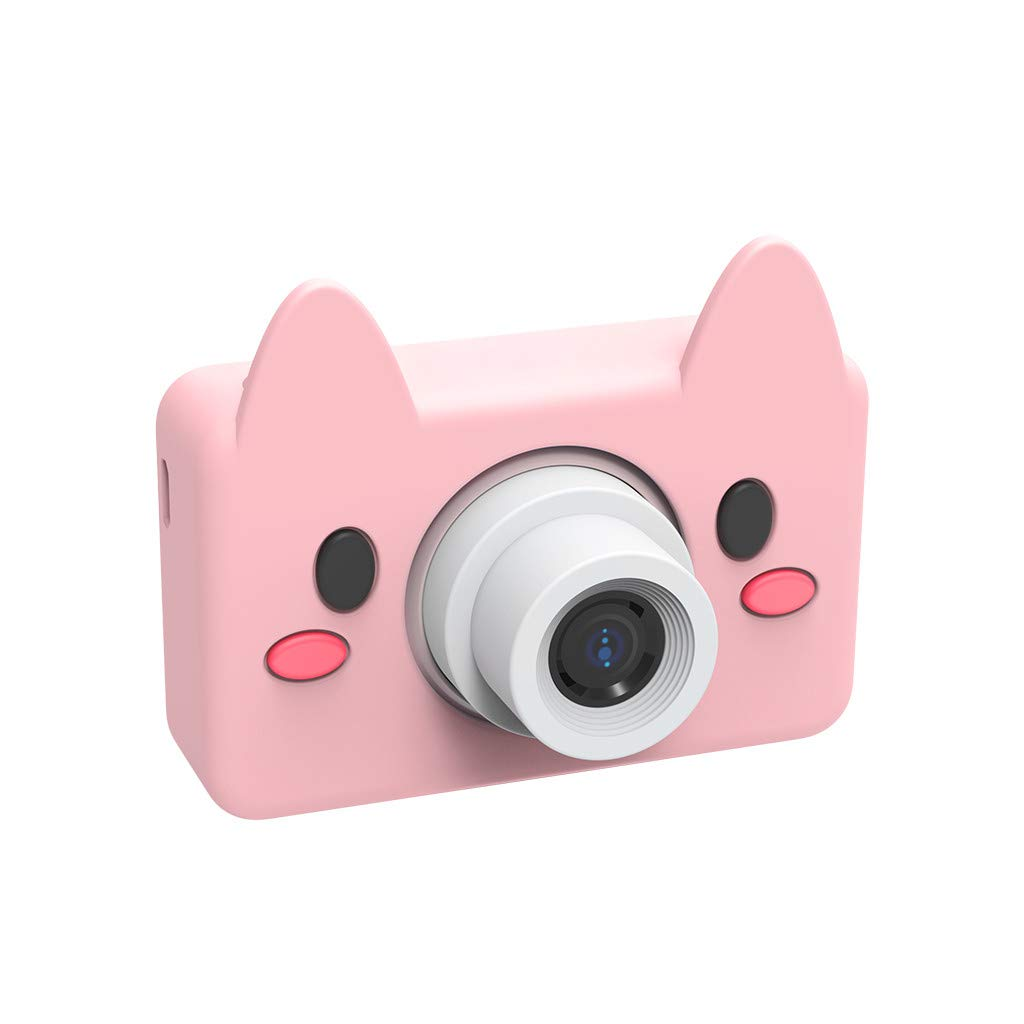 Giokfine 2019 Kids Toys Camera Compact Cameras for Children Gifts, 8MP HD Video Camera Gifts (Pink)