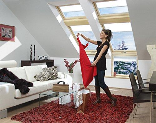 FAKRO Dachfenster Klapp-Schwingfenster Holz mit weißer Polyurethanschicht FPU-V U5 78 x 98