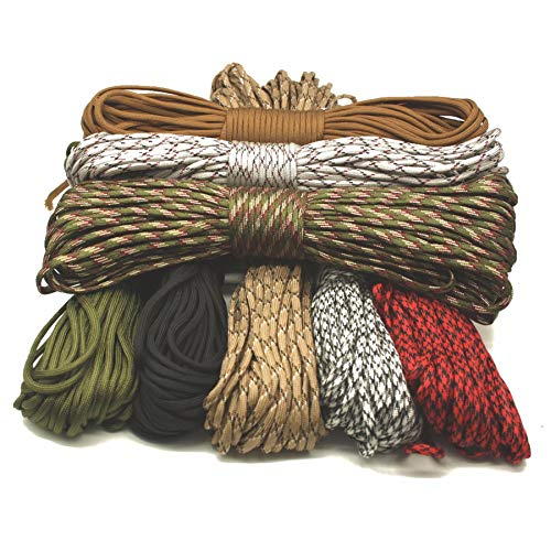 Susan1999 Rope/Paracord New Arrival Paracord 550 Woven Hanging Parachute Cord 7 Strands Ropes Outdoor Tools Type III Lanyard