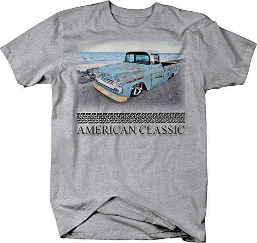 American Classic Chevy Pickup 1950's Apache Patina Beach Tshirt - XLarge ()