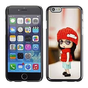 TopCaseStore / la caja del caucho duro de la cubierta de protección de la piel - Cute Toy Girl - Apple iPhone 6 Plus 5.5