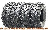 Set 4 ATV Tires 25x10-12 & 25x11-12 for 10-13 Polaris Ranger 500 HO/CREW/EFI