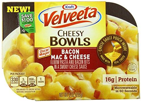 Velveeta Cheesy Bowls Bacon Macaroni & Cheese (9 oz Boxes, Pack of 6)