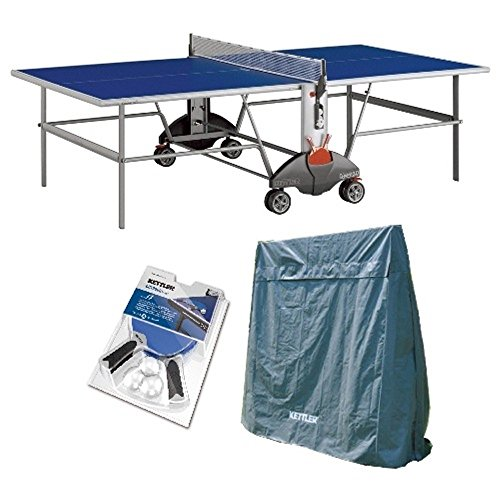 Kettler Champ 3.0 야외 Table Tennis Table with 아웃 도어 액세서리 번들 / Kettler Champ 3.0 Outdoor Table Tennis Table with Outdoor Accessory Bundle