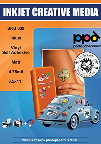 - PPD Inkjet Matte Creative Vinyl Stickers LTR 8.5x11