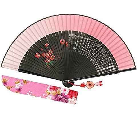 Wise Bird Chinese Fan Japanese Folding Hand Fan, Vintage Retro Style Fan 8