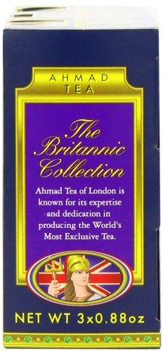 amazoncom ahmad tea britannia collection loose tea three variety flavors 3 count box of 088 ounce tin grocery tea sampler grocery gourmet food