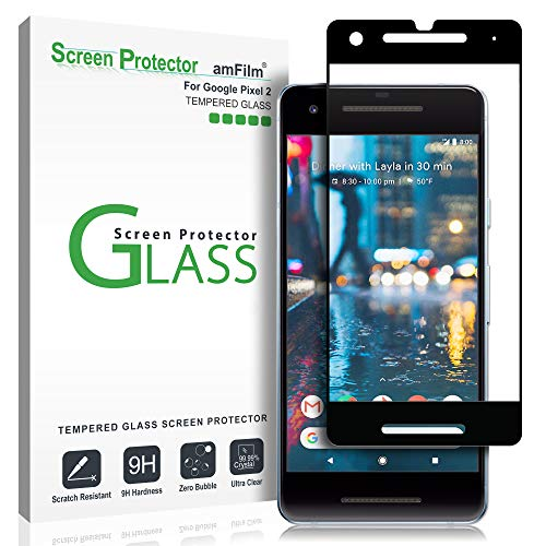 amFilm Glass Screen Protector for Google Pixel 2, Tempered Glass (Best Google Pixel 2 Screen Protector)