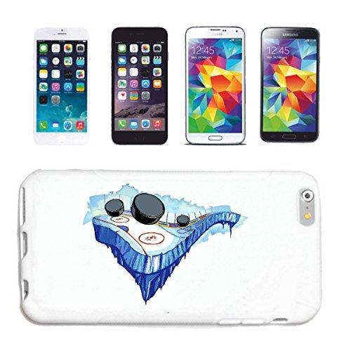 """cas de téléphone iPhone 6S """"HOCKEY HOCKEY PUCK HOCKEY ÉQUIPE SPORT HOCKEY SUR GLACE BAT"""" Hard Case Cover Téléphone Covers Smart Cover pour Apple iPhone en blanc"""
