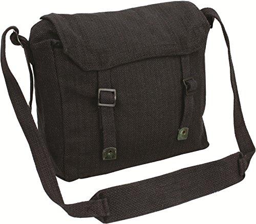 Highlander Haversack Bag Noir Webbing Adjustable Mens Cotton Canvas rvnqr7B