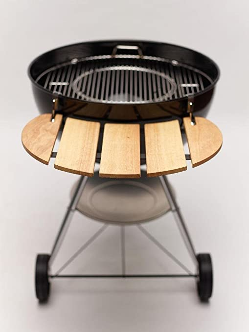 Professional Side Table Bamboo Suitable For All 57 Kettle Barbecues Amazon Co Uk Garden Outdoors