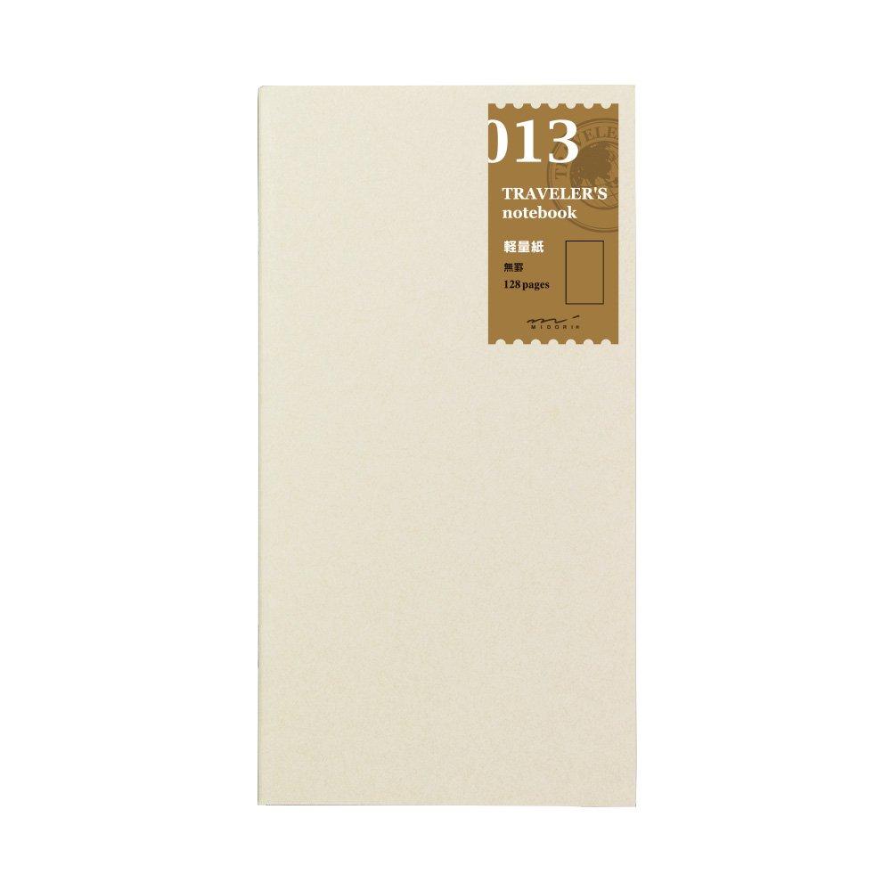 Midori Traveler's Notebook - Refill 013 (Regular Size) - Lightweight Paper Notebook OfficeCentre 14287006