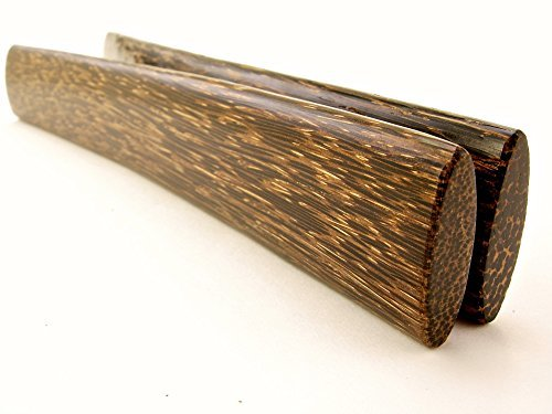 Pea Patch Minstrel-style Tigerwood Rhythm Bones, Regular