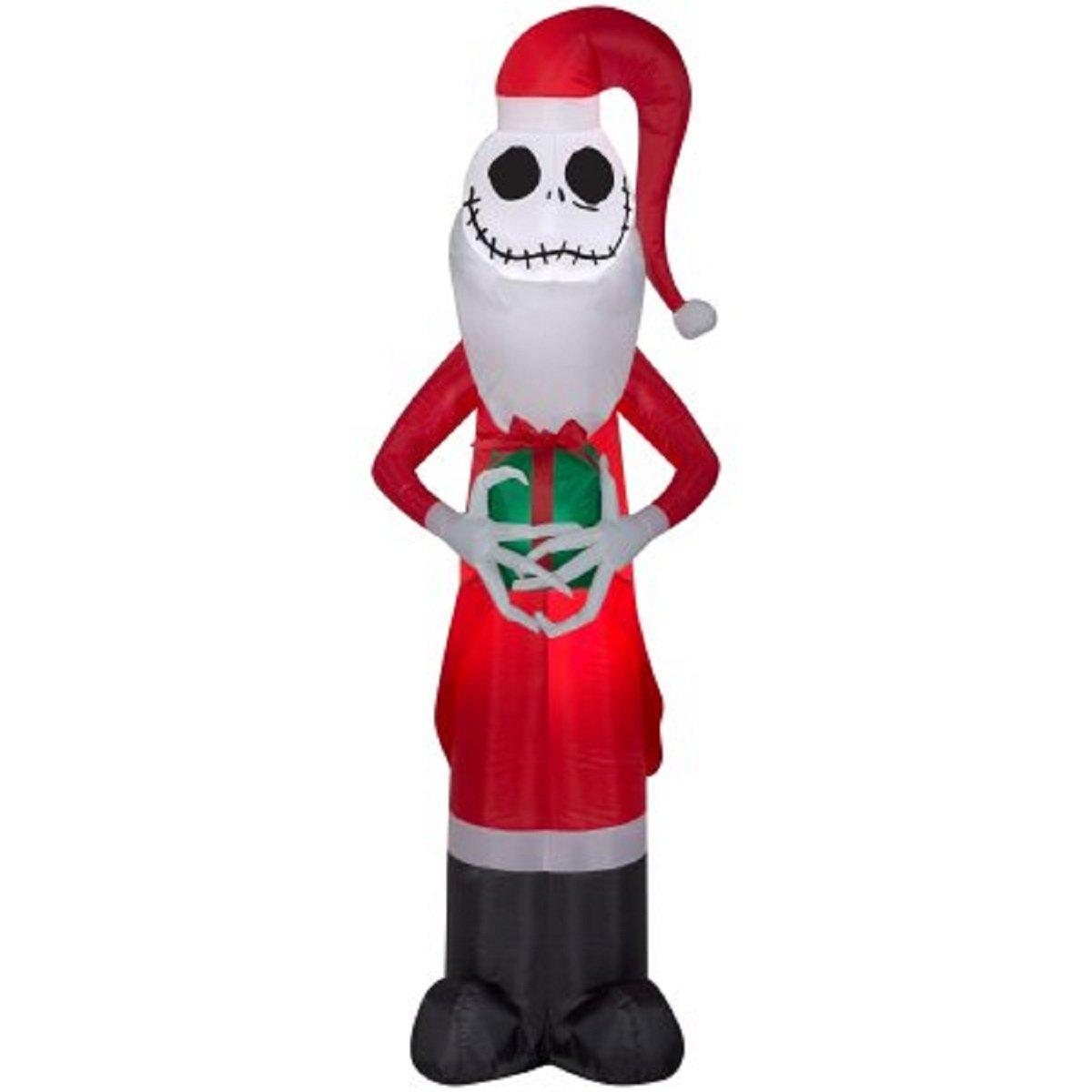 Amazon.com: Christmas Disney Inflatable 5.5 Santa Jack Skellington ...