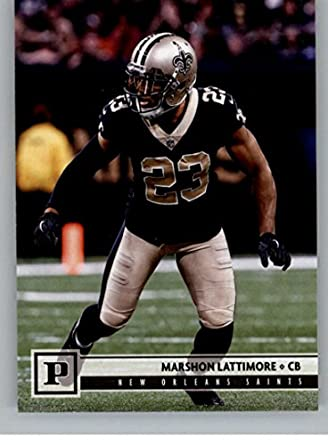 2018 Panini NFL Football  209 Marshon Lattimore New Orleans Saints Official  Trading Card 25b3f52b4