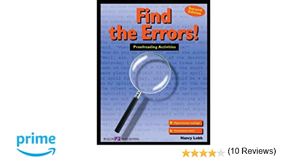 Workbook diagramming worksheets : Amazon.com: Find the Errors!: Proofreading Activities (011588e5 ...