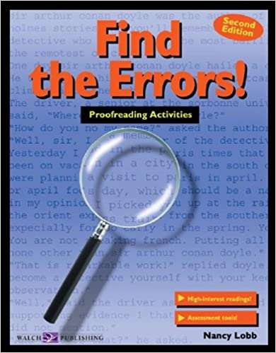 Amazon.com: Find the Errors!: Proofreading Activities (011588e5 ...