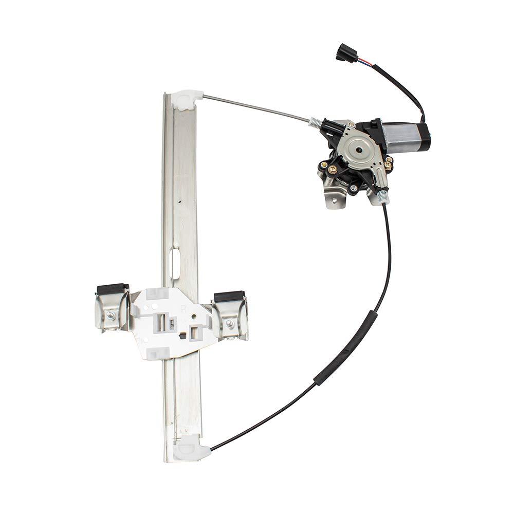 BROCK Passengers Rear Power Window Lift Regulator w/Motor Assembly Replacement for 03-09 Hummer H2 15771354 by Brock