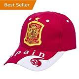 Spain National Team Soccer Cap - Adjustable Embroidered Authentic 2018 Russia World Cup Home Fans Red Baseball Cap Hats