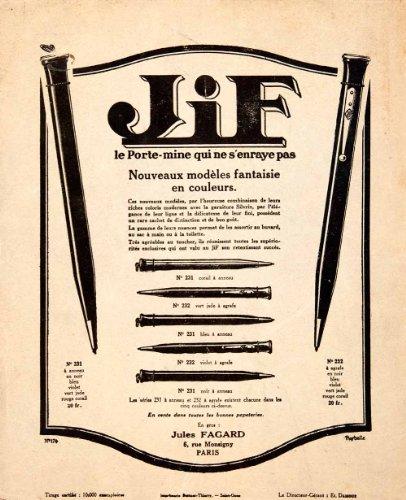 1925-ad-jif-mechanical-pencil-jules-fagard-6-rue-monsigny-paris-writing-tool-original-print-ad