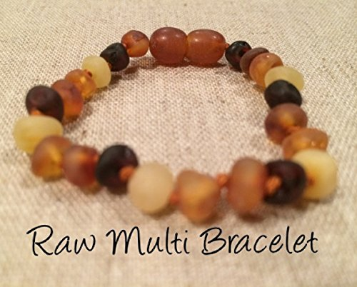 Natural Certificated Oval Baltic Jewelry with the Highest Quality G and Toddlers will all benefit Multi Raw Unpolished Multi Anti Flammatory Baltic Amber Teething Bracelet for Babies Unisex Drooling /& Teething Pain Reduce Properties - Baby Infant