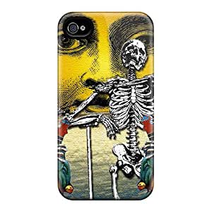 Perfect Hard Cell-phone Case For Iphone 4/4s With Provide Private Custom Beautiful Grateful Dead Series MansourMurray