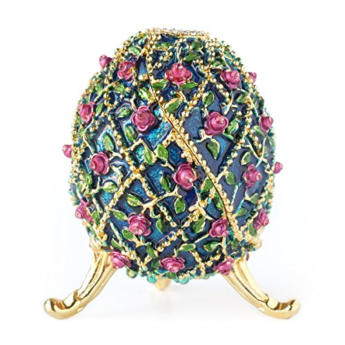 Apropos Hand-Painted Vintage Style Faberge Egg with, used for sale  Delivered anywhere in USA