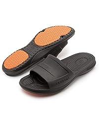 KENROLL Men's Bathroom Shower Anti Skid Sandals Poolside Sandals Beach Sandal Home Slippers Non-slip EVA Flat Soles Flip Flops