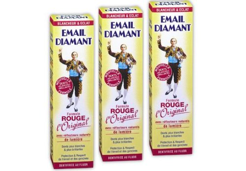 X3 Email Diamant Cosmetic RED Toothpaste - Formule Rouge Original (X3 Tubes)